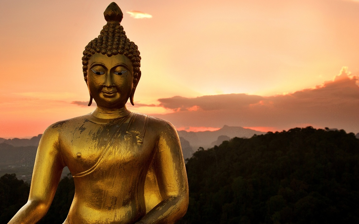 Golden Statue Of Lord Buddha