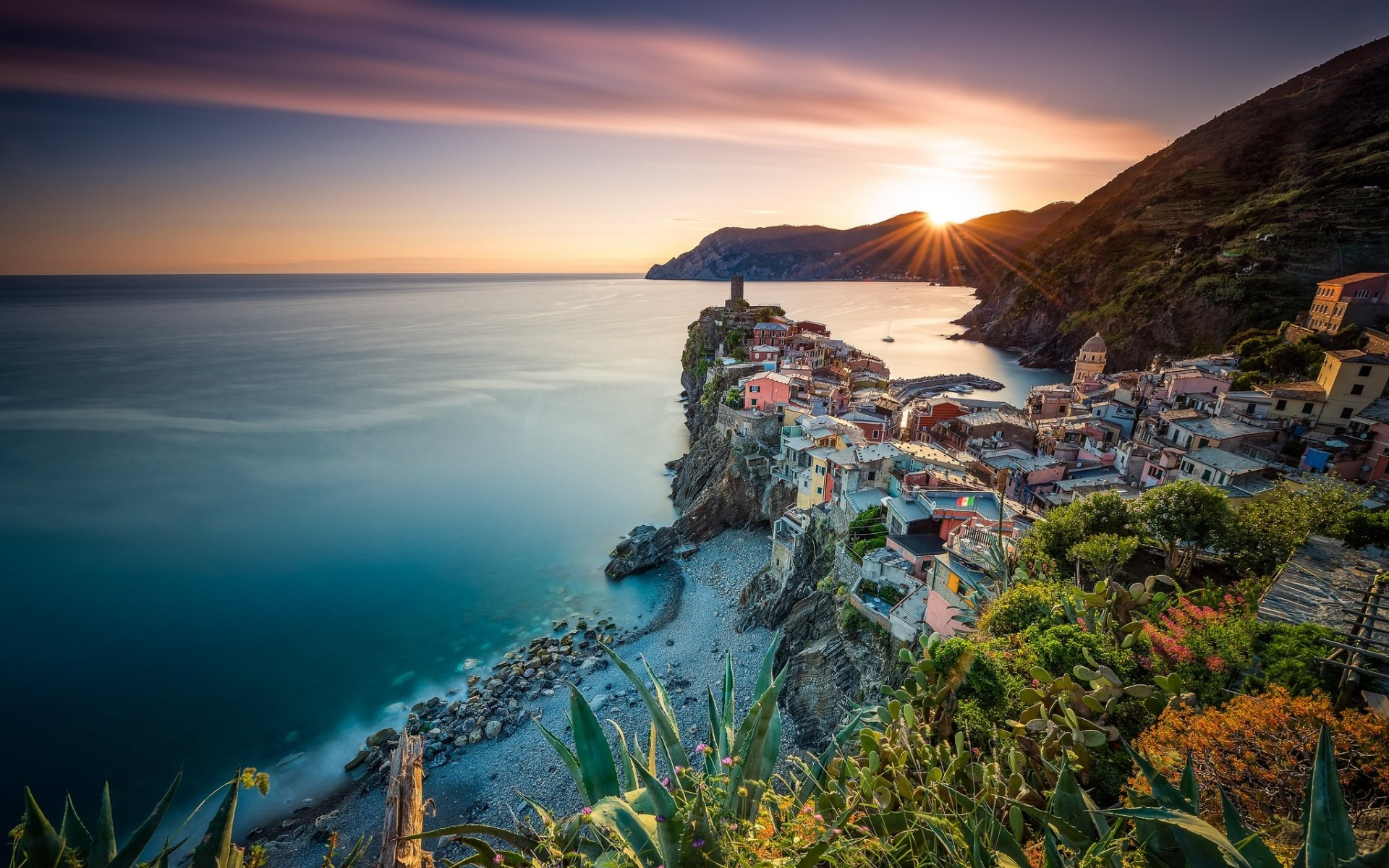 Golden Vernazza Sunset Italy