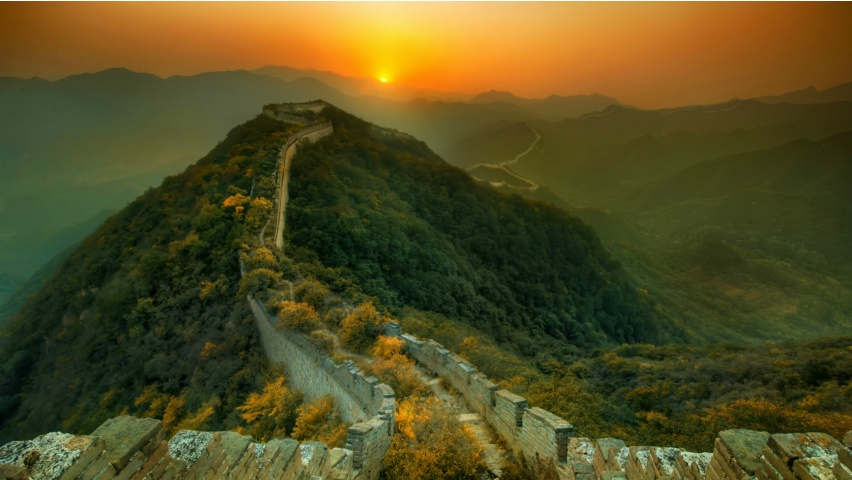 Great Wall Of China Sunset