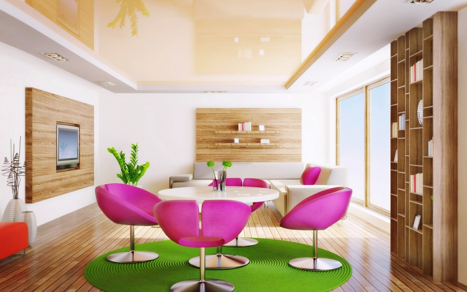 green and pink interior room 1920 x 1200 download close