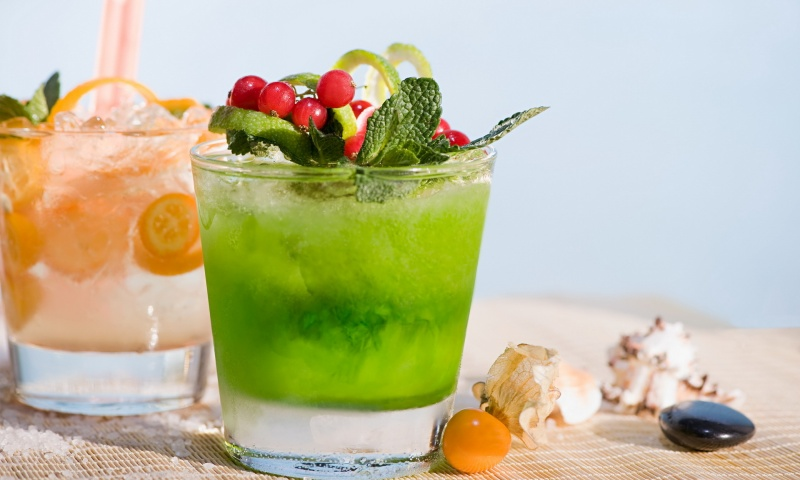 Green Cocktail Drink