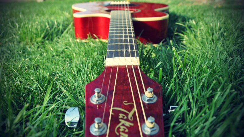 Guitar On Grass
