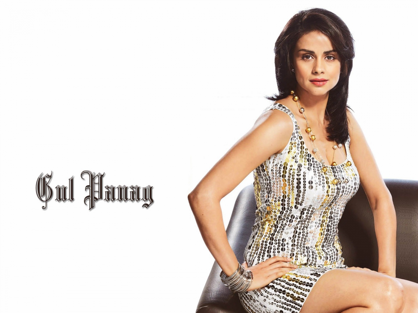 Gul Panag Sitting On Sofa