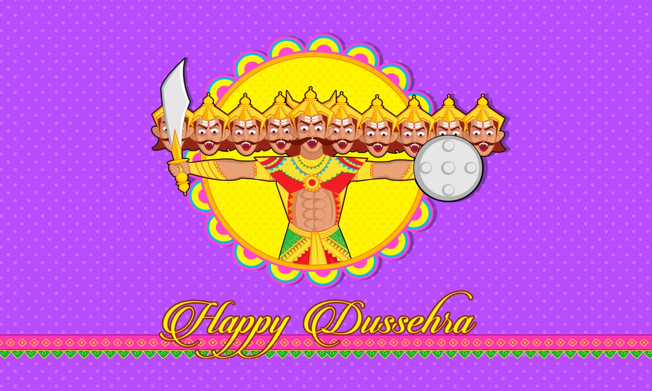 Happy Dussehra Cartoon