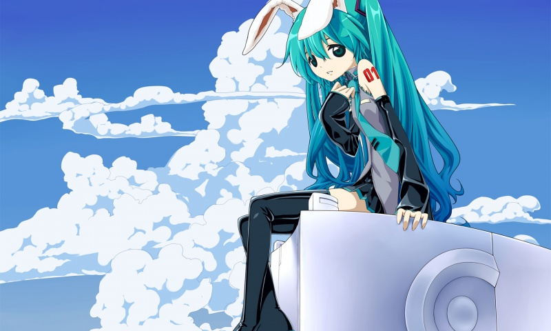 Hatsune Miku And Clouds
