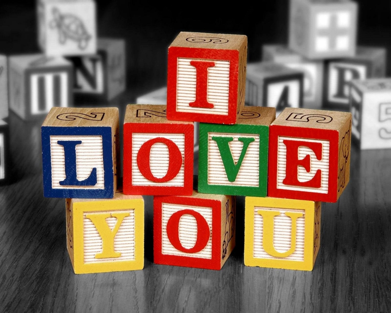 I Love You Cubes