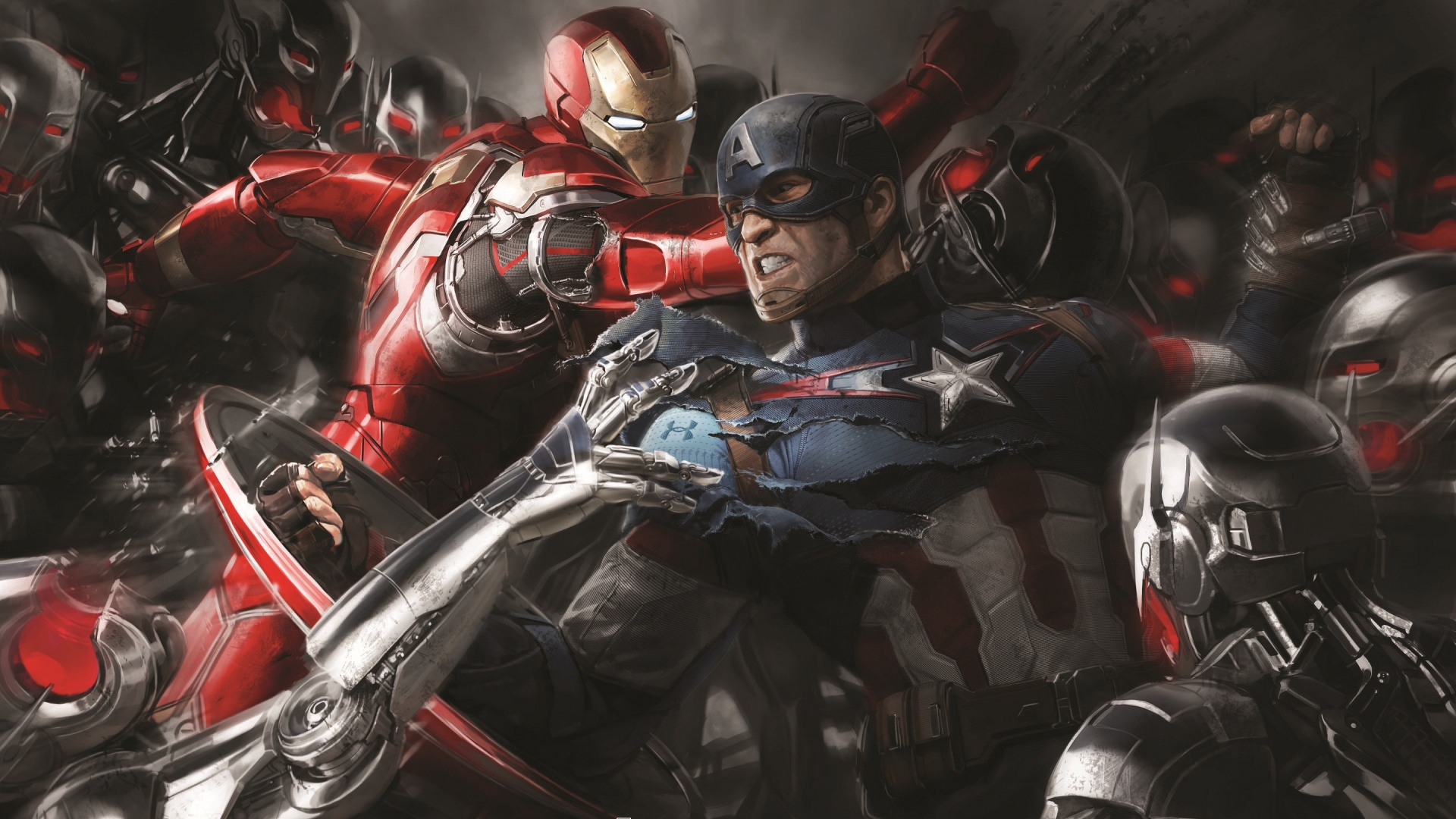 Iron Man And Captain America Art