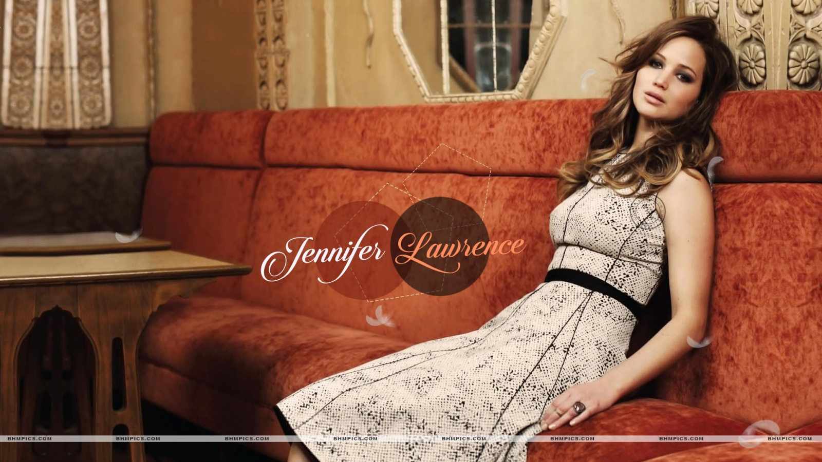 Jennifer Lawrence Laying Sofa