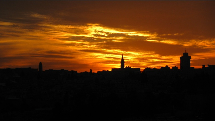 Jerusalem City Sunset