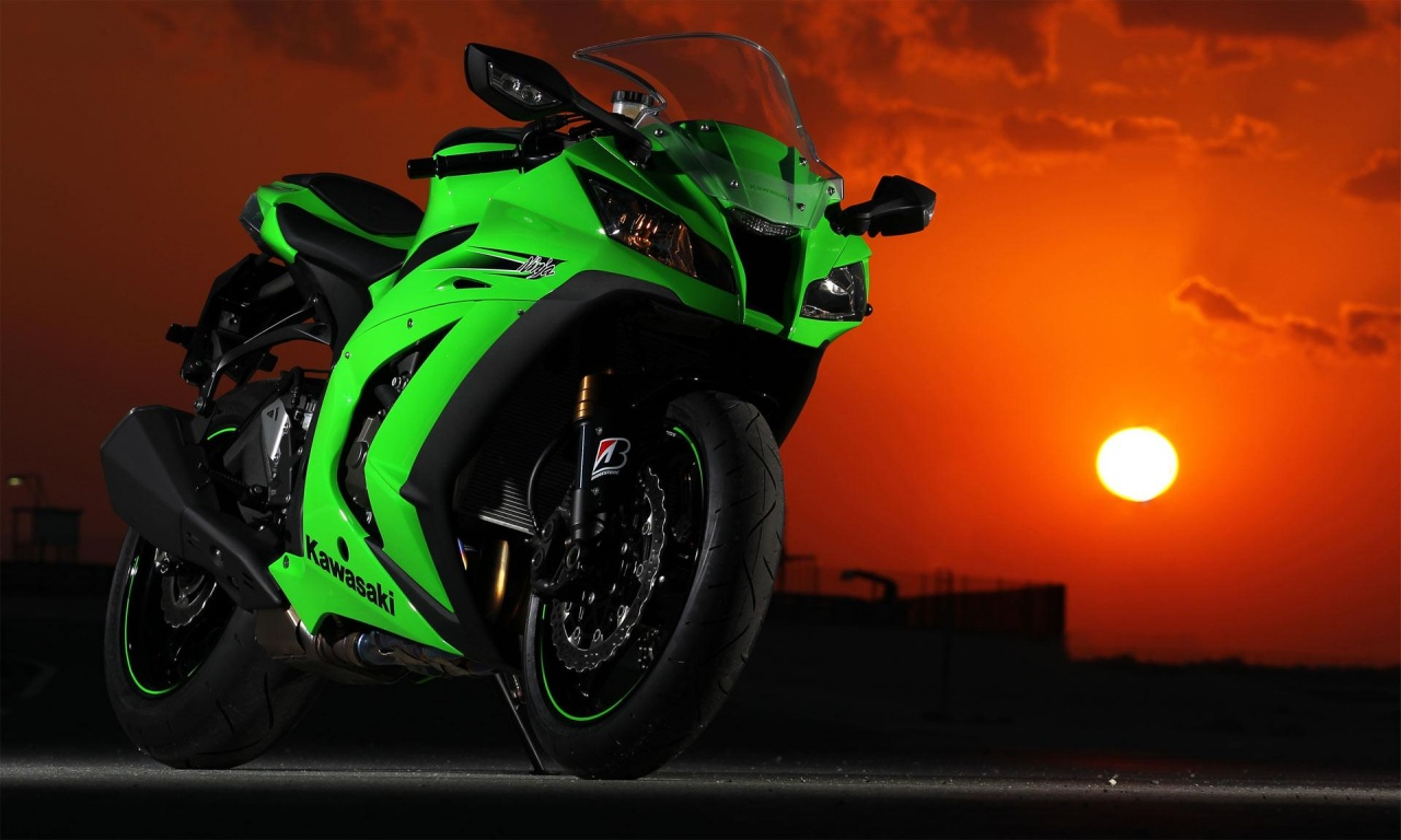 Kawasaki Ninja And Sunset