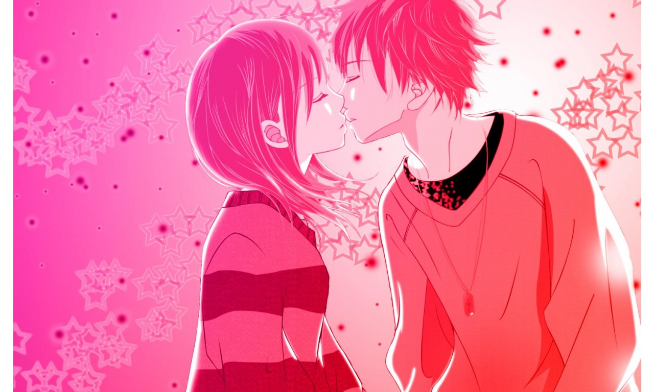 Animated Love Kiss Wallpaper : Kiss Anime Love Wallpapers - 1280x768 - 252149