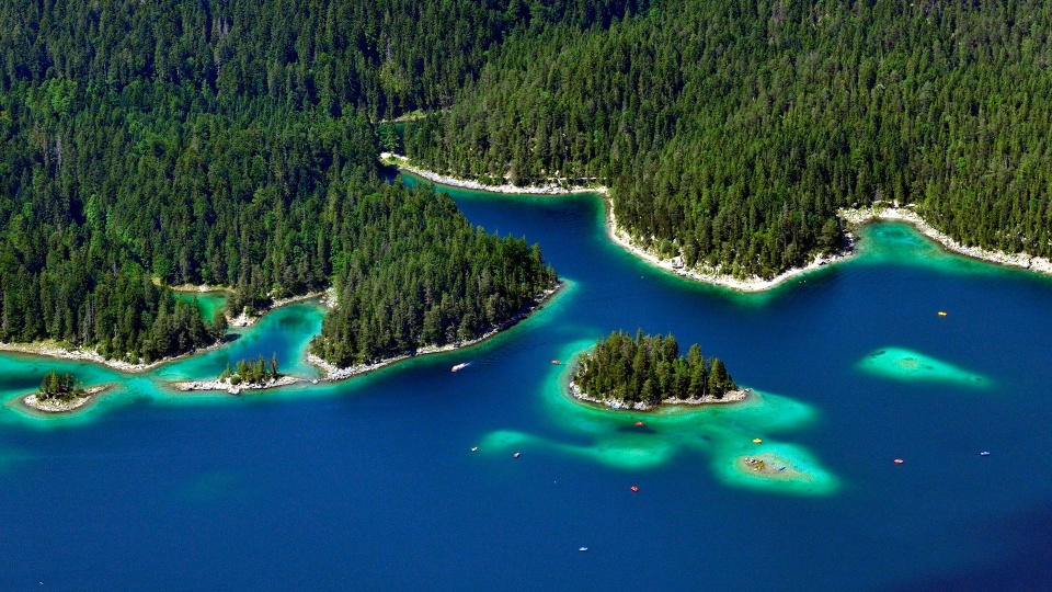 Lake Eibsee Bavaria Germany