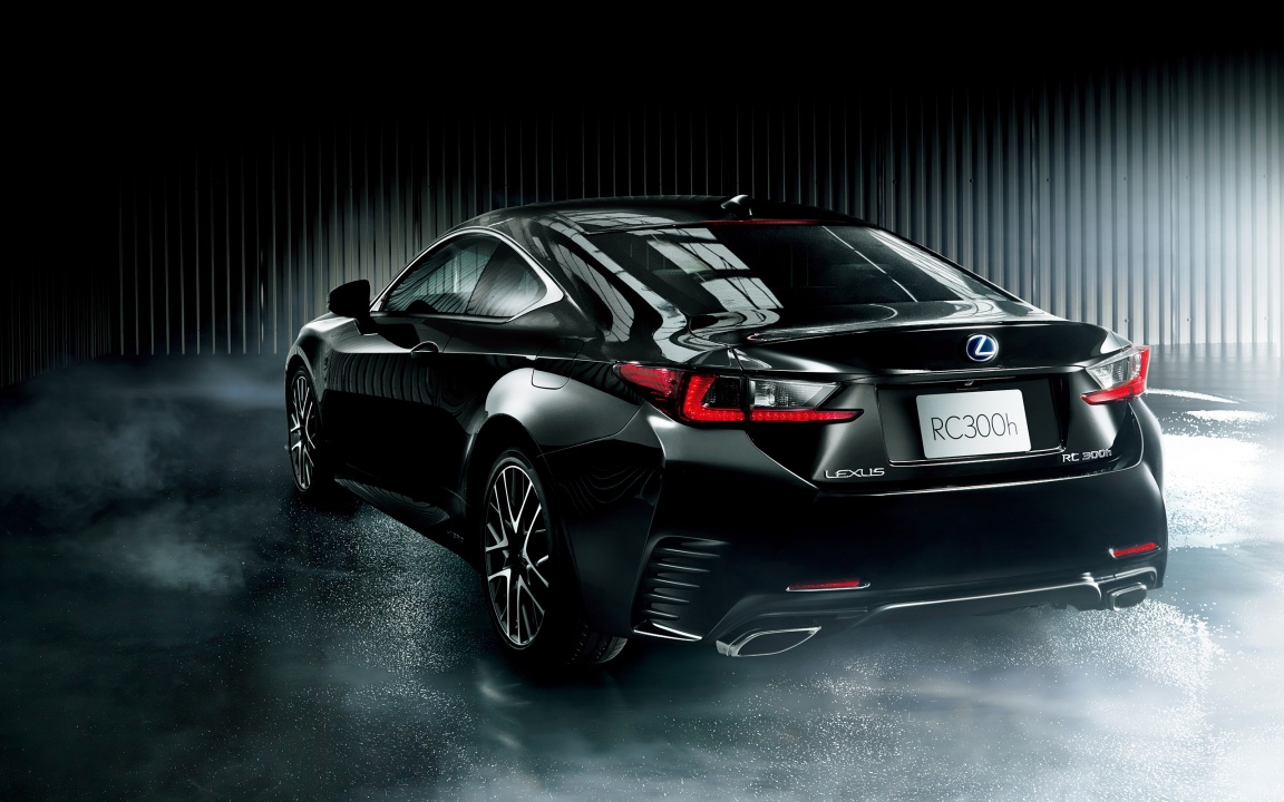Lexus RC Black Car 2015
