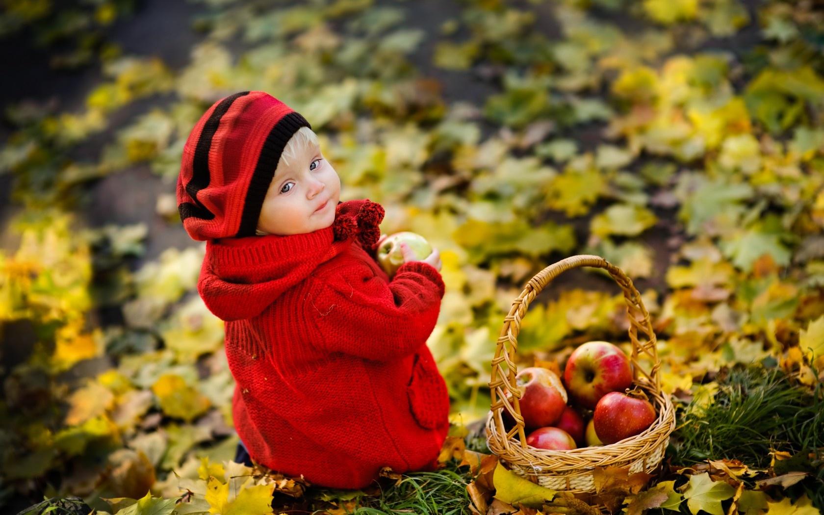 fbf6ac9671850 Little Girl In Red Sweater Wallpapers - 1680x1050 - 449849