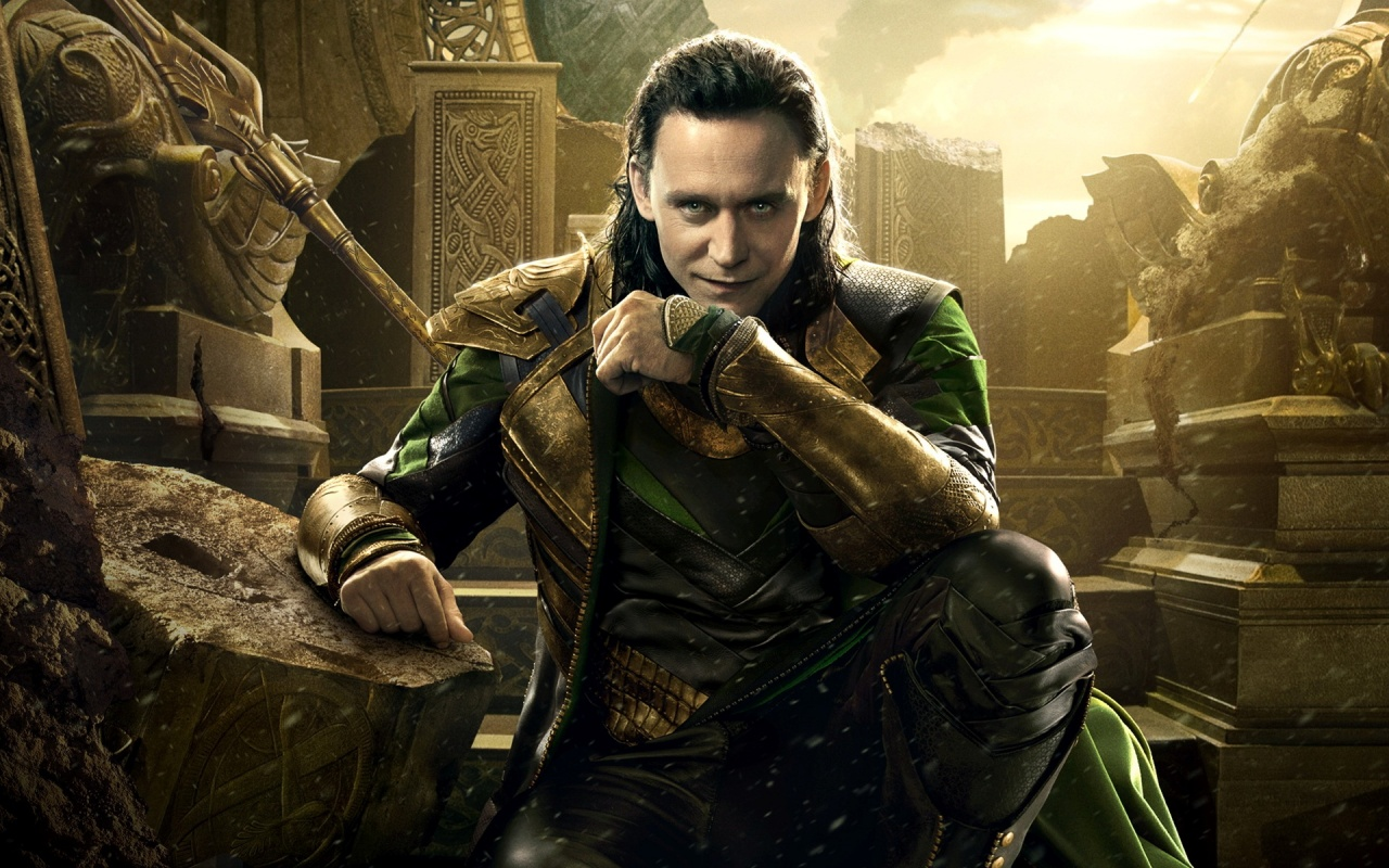 Loki Face The Dark World 2013