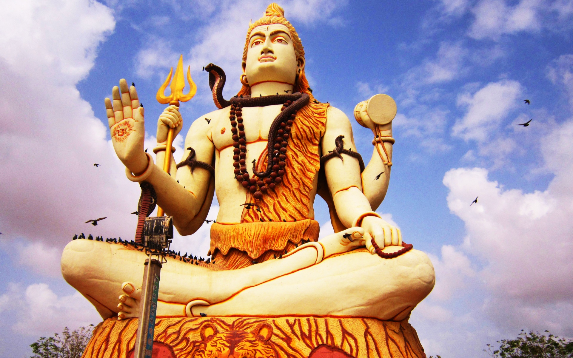 Wallpapers Lord Shiva Angry Photos Hd Kaal Bhairav 4: Lord Shiva Big Statue And Birds Wallpapers