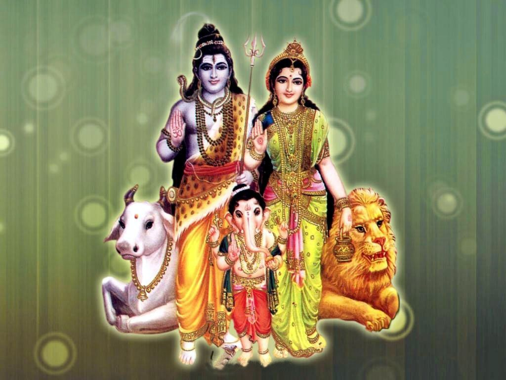 Lord Shiva Parvati And Ganesh | 1024 x 768 | Download | Close