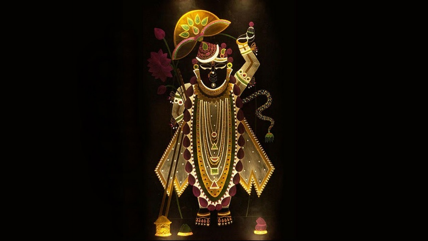 Lord Shrinathji Black Background Wallpapers