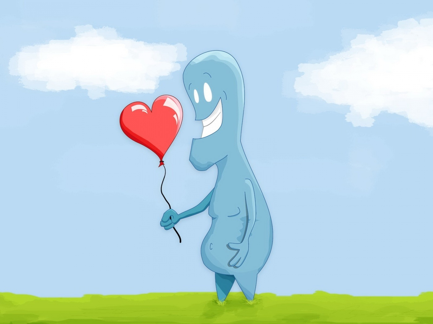 Love Balloon With cartoon Wallpaper : Love Balloon With cartoon Wallpapers - 1400x1050 - 152379