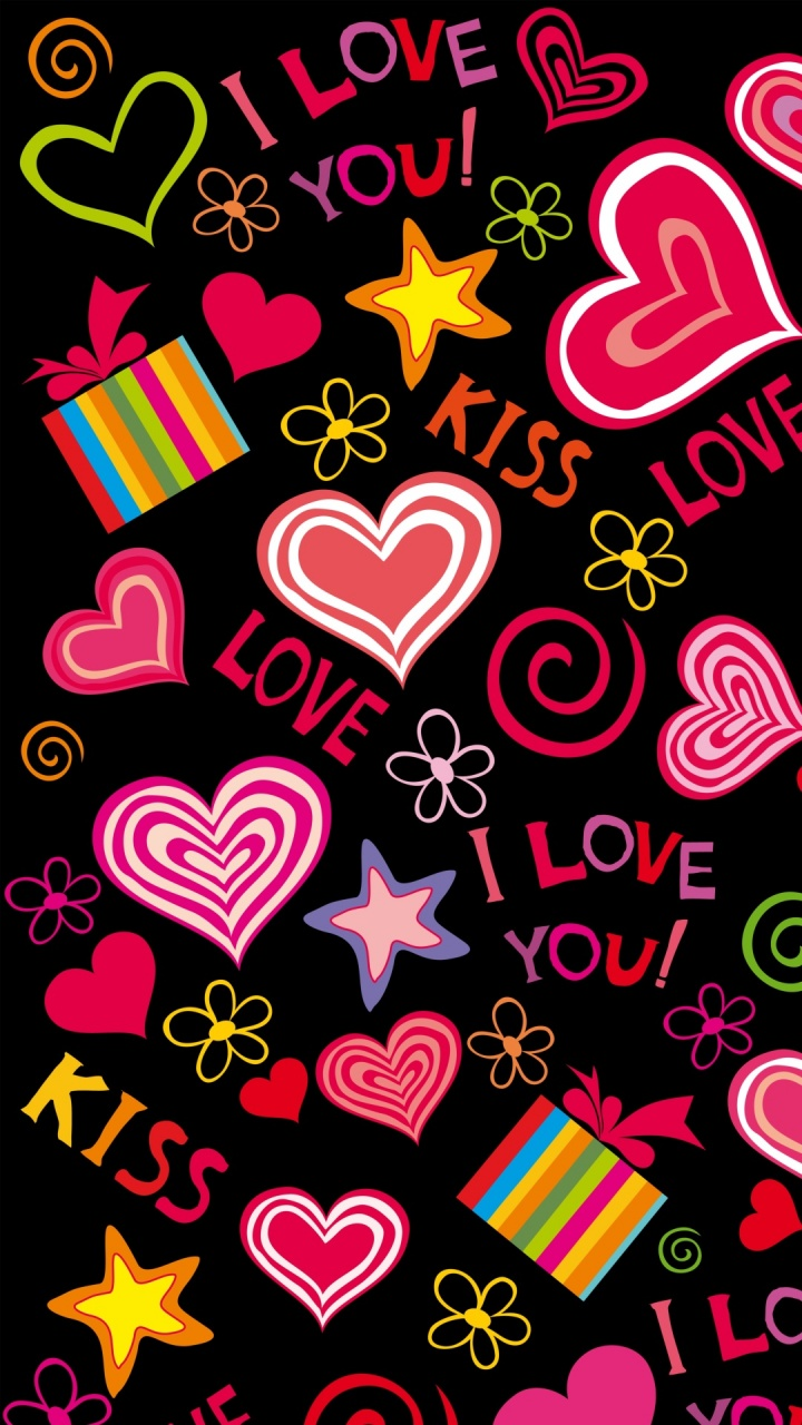 Love Hearts Sweet Vector Wallpapers - 720x1280 - 309781