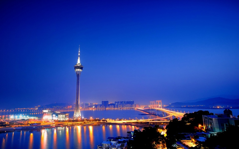 Macau Tower And The Sai Van Bridge