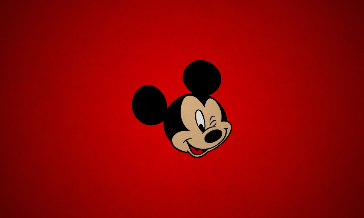 Mickey Mouse Red Background