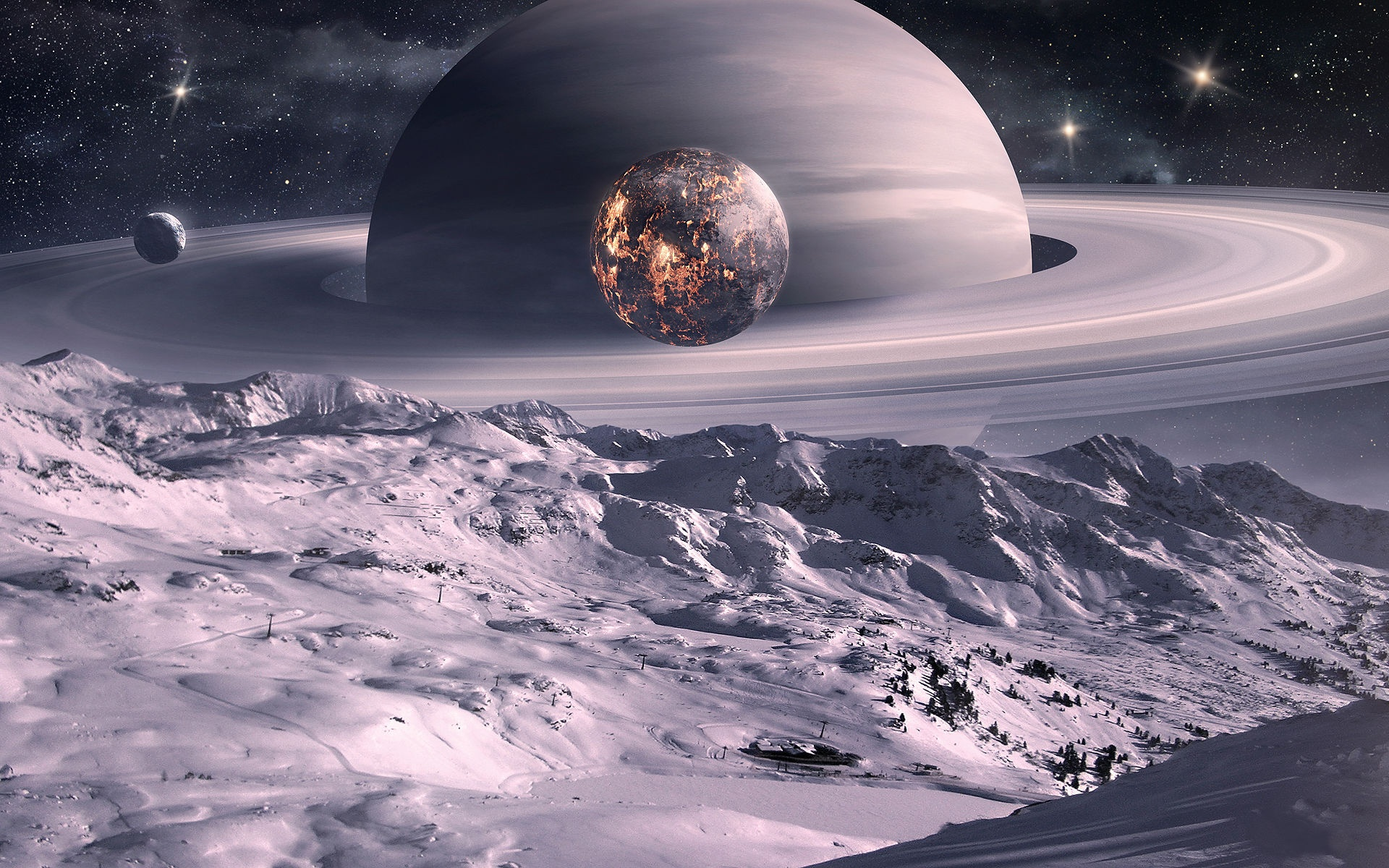Moon Of Saturn Wallpapers - 1920x1200 - 884257