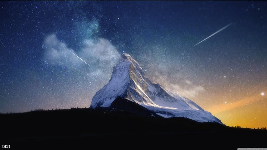 Mountain and Sky Full of Stars