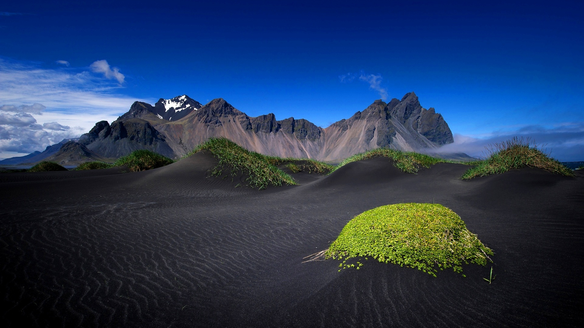Mountains Black Sand Iceland