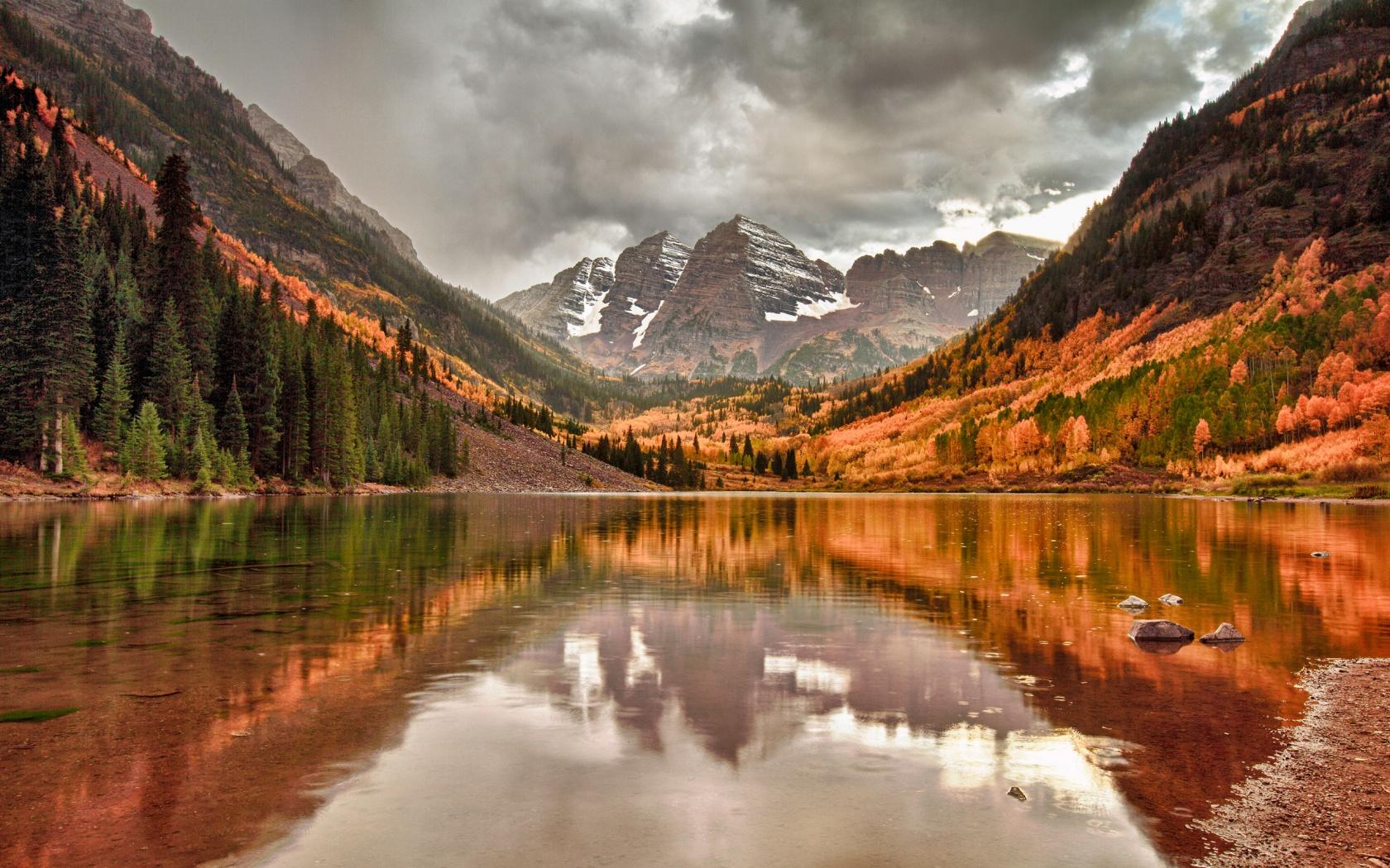 Nature mountain lake 1680 x 1050 download close