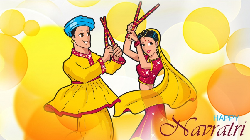 Navratri Dandiya Couple