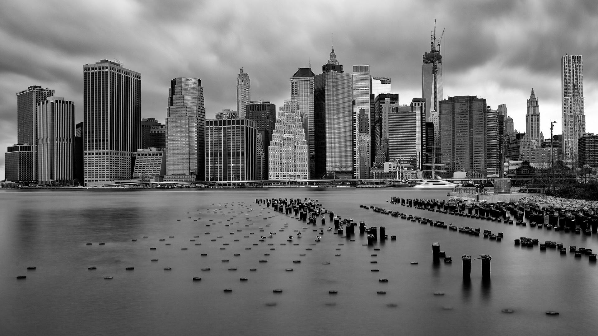 New York Wallpaper 1920x1080 Black And White