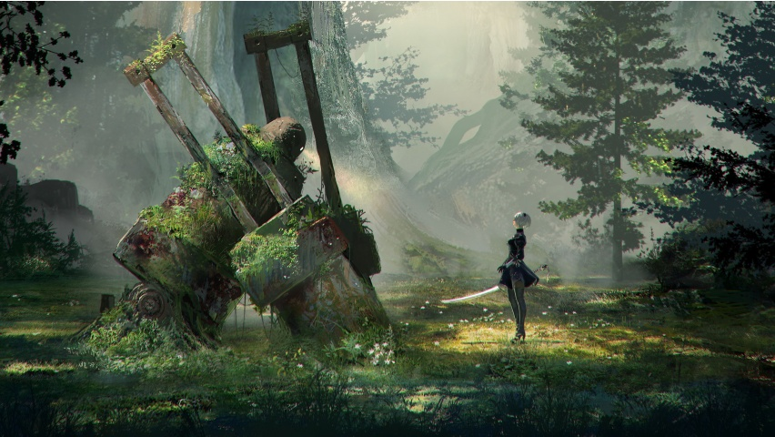Nier Automata Game Art 4k