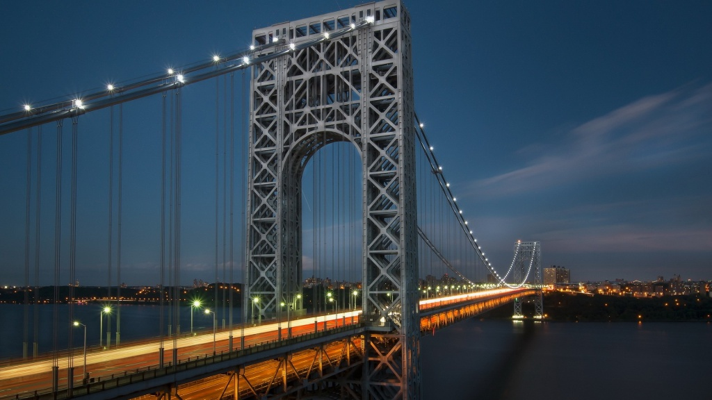 Night George Washington Bridge New York