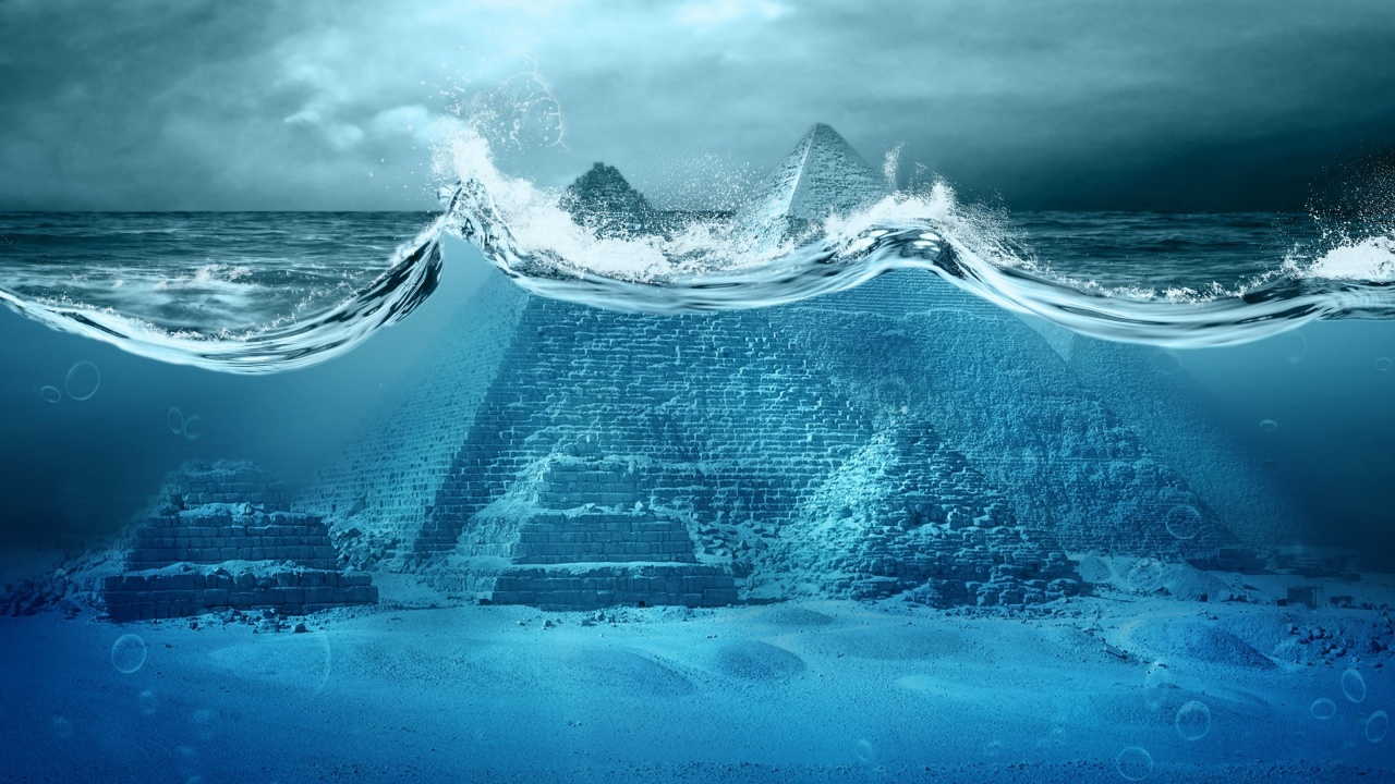 Ocean In Fantastic Pyramid
