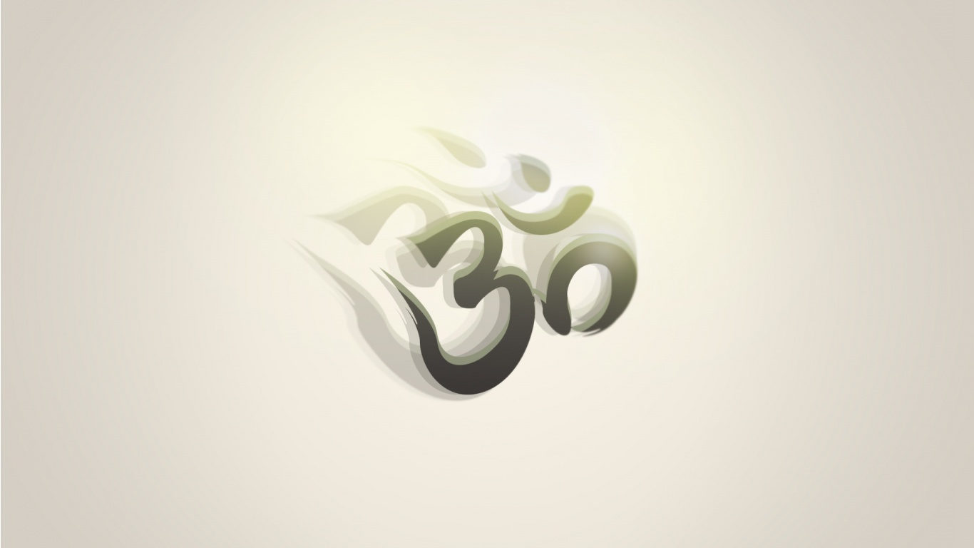 Om And White Background