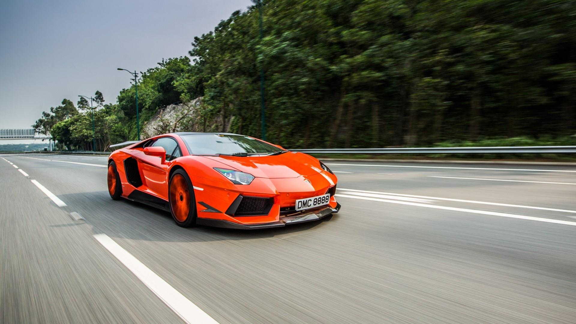Orange Lamborghini Aventador Wallpapers - 1920x1080 - 555826