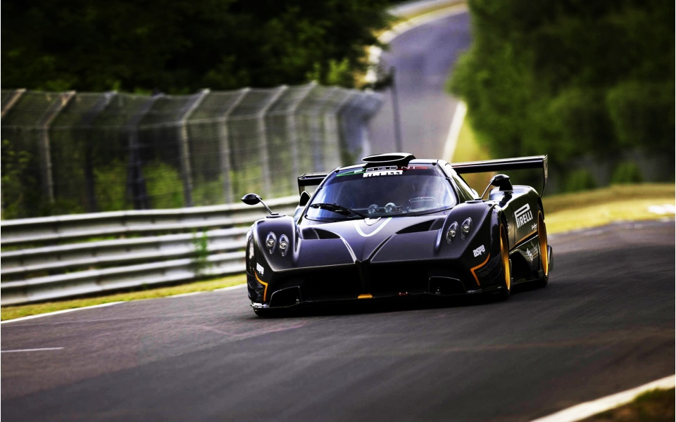 pagani zonda r nurburgring wallpapers 960x600 153595. Black Bedroom Furniture Sets. Home Design Ideas