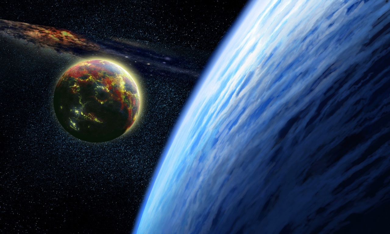 Planet Atmosphere Moon Sci Fi