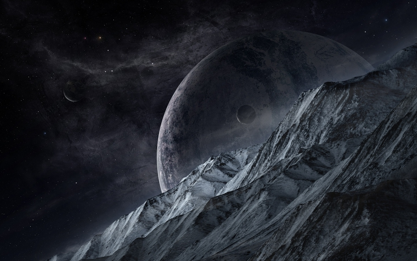 Planet Moons Mountains
