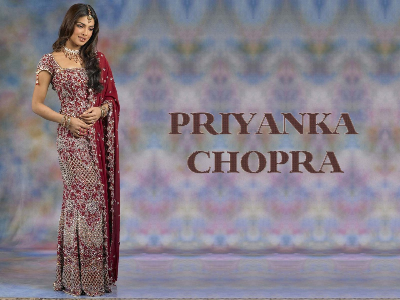 Priyanka Chopra In Dulhan Dresses
