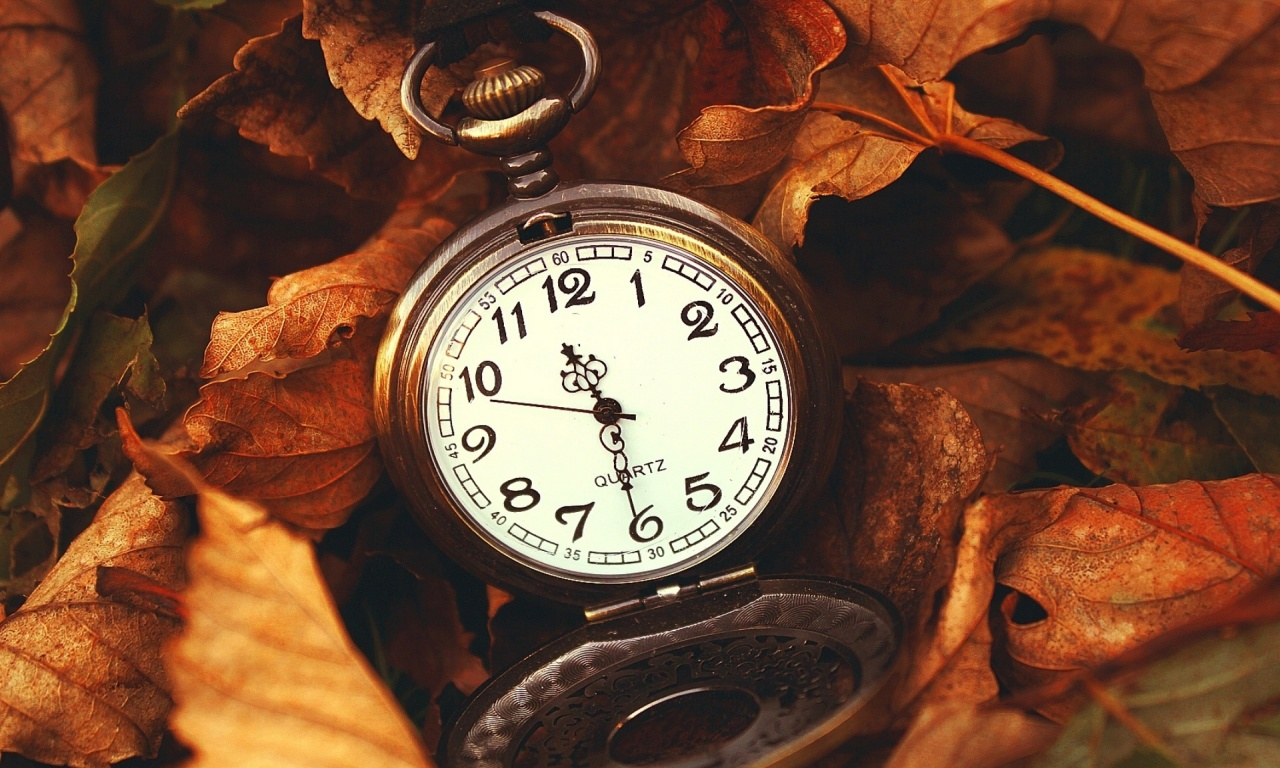 Quartz Watch In Autumn Leaves