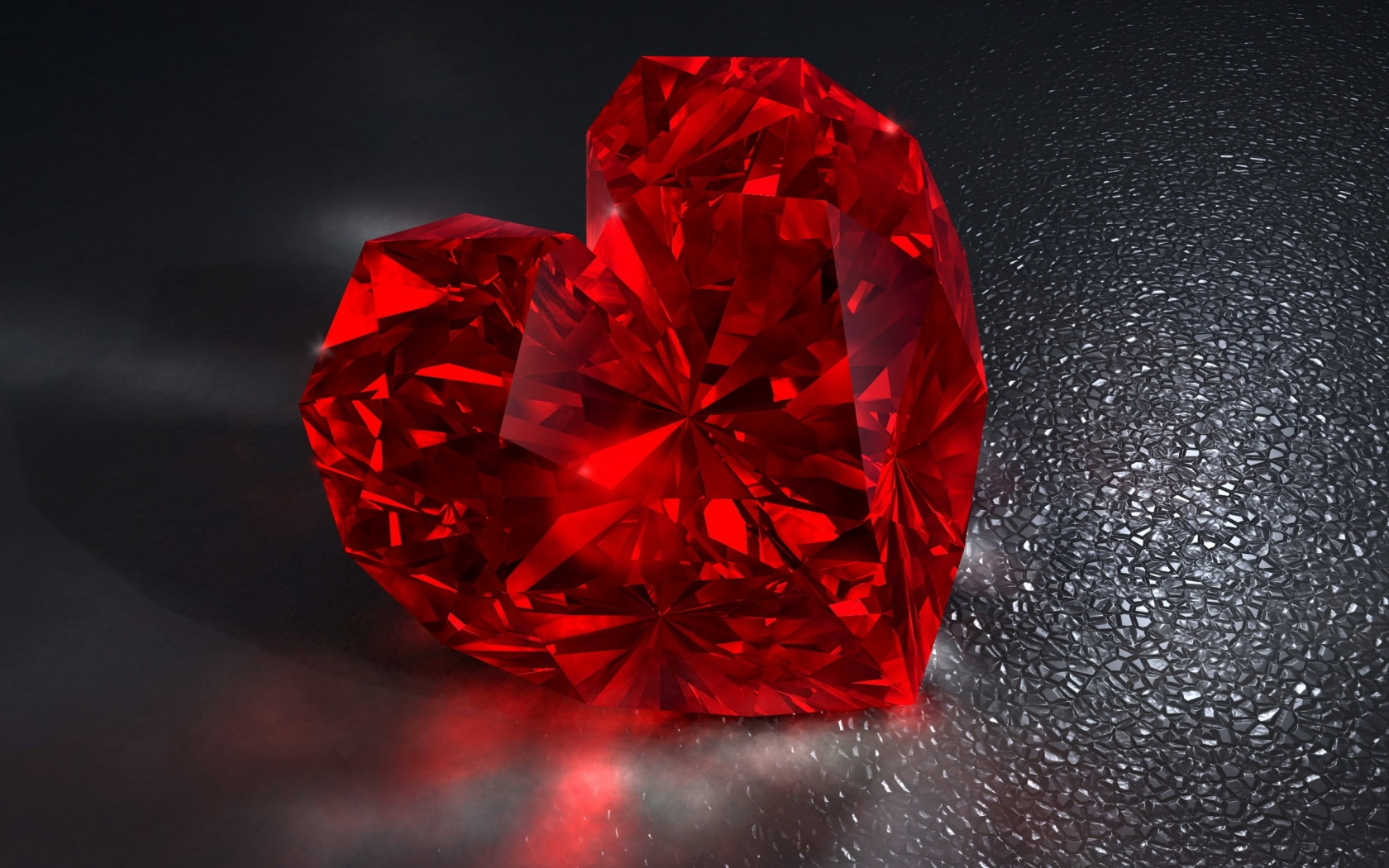 Red Diamond Heart