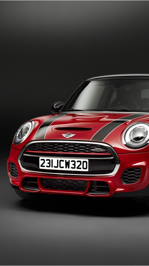Red MINI John Cooper Works 2015