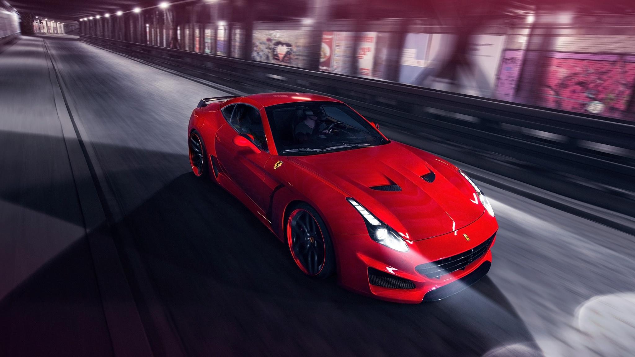 Download Red Black Ferrari 2048 X 2048 Wallpapers: Red Novitec Rosso Ferrari California T N-Largo 2015