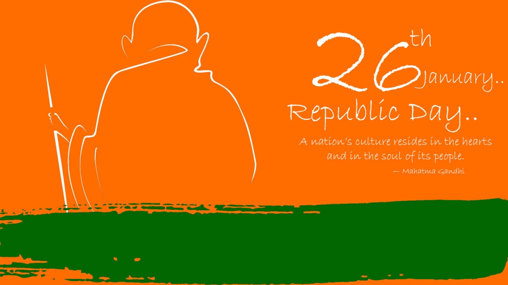 Republic Day With Mahatma Gandhi