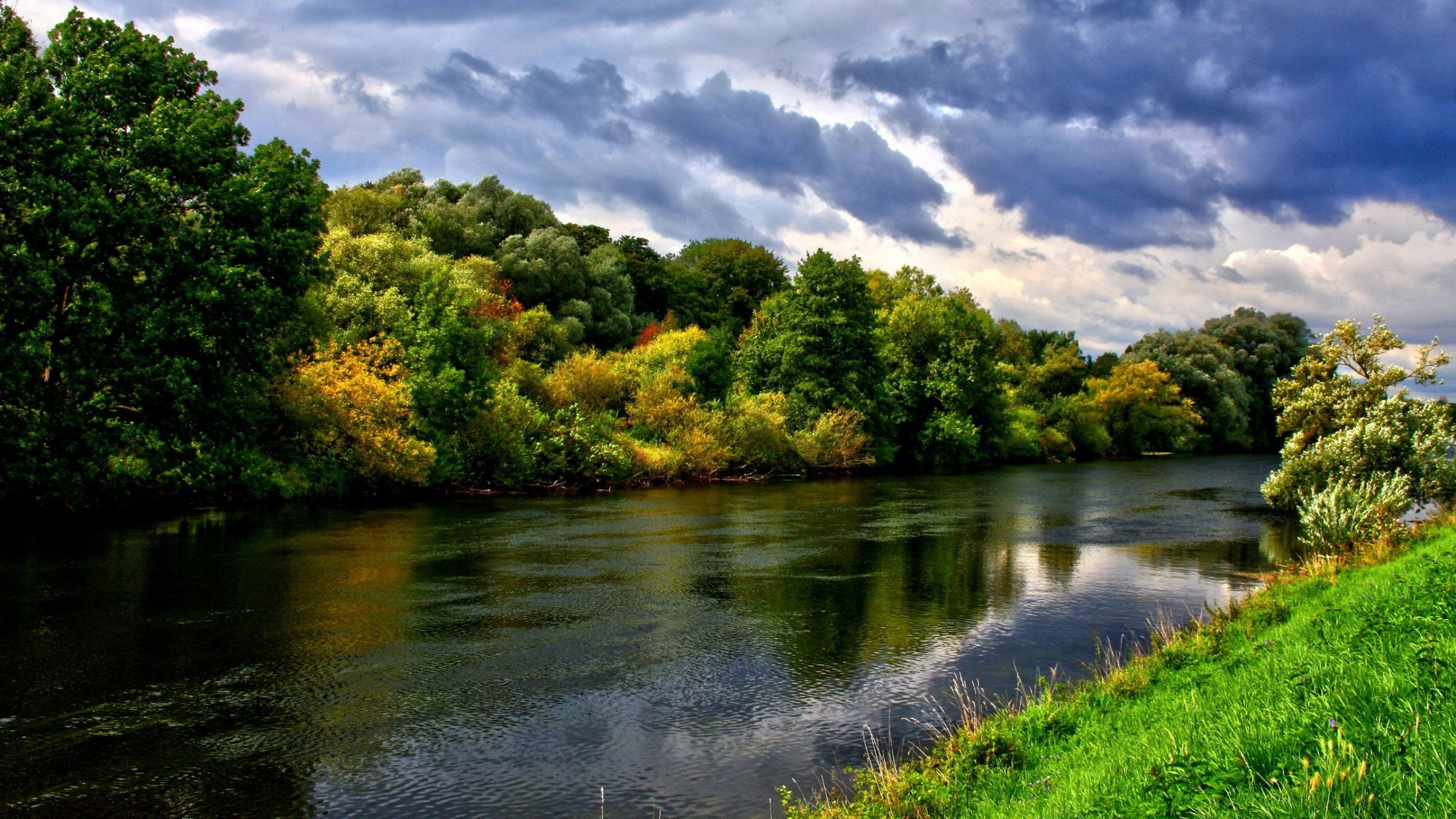River And Green Trees