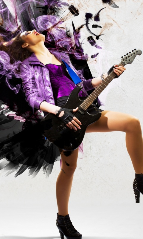 Rock music girl 480 x 800 download close