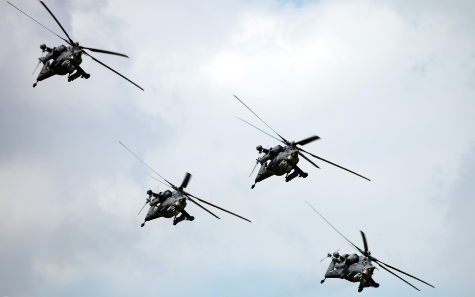 Russian Air Force Mi-28N Helicopters
