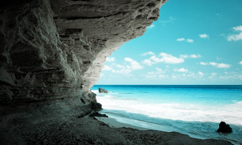 Secret Beach in a Cave